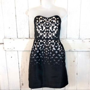 Silence + Noise Strapless Geo Dress - EUC